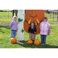 children pumpkins fun measuring spot