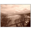 Scarborough sepia ocean sea bay view