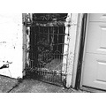 alley gate blackwhite
