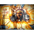 Wall Painting Wolf Indian