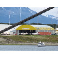 Ushuaia airport from the harbour Argentina