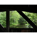 View from a covered bridge