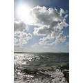 water sea solent waves sky clouds sun blue lepe beach challenge60