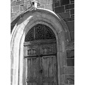 Church Door BW
