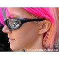 Sasparella Girl Model Pink Hair Sunglasses Profile Portrait