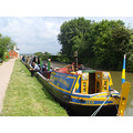 historic narrowboat foxton locks boat canal british waterways