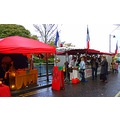 French market sligo Ireland colourful rain