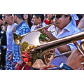 gaypride men man gay pride spain madrid trombone music reflection band