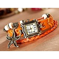 New Hot Elegant Vintage Starfish Hand Woven Leather Watches Free Shipping