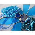 art stainglass design colors blue travel lu2008 lubranco