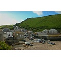 8086 Manipulated PortIsaac Cornwall UK Sea Coast Harbour Beach
