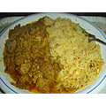 curry goat food dinner