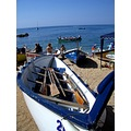 traditional rowing boat catalonia sea mediterranean sea
