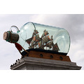 ship in bottle trafalgar square plinth London