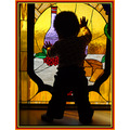 Baby stained glass baby