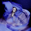 portrait woman movement dance people colours violet blue keitology