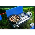sausages breakfast frying pan camping