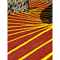 stairs acapulco mexico architecture red yellow lines laquebrada