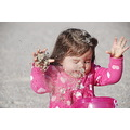 My granddaughter releases her anger by throwing sand all over herself ...those little arms and ha...