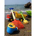 colorful summer fun beach sand sea children childplay