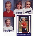 Christopher Garrett Vanessa and Jamie with Christophers baseball card 1991