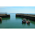Sea Water Boat Boats Coast Harbour Wall Stone Cornwall Charlestown