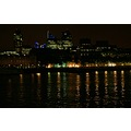 london night lights river thames water