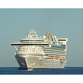 The Golden Princess weighed anchor off Lahaina, Maui today.
