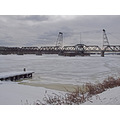 climatefriday hudsonriver river ice snow bridge railroadbridge