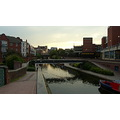 Birmingham City Metro Canal Sunset Dusk