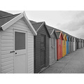 whitby beach hut beachhut selective colour
