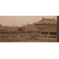 Sepia Forbidden City Beijing China