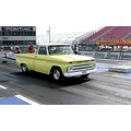 At the dragstrip in my 65 Big block chevy shortbed with corvette rear suspension