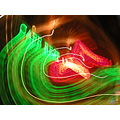 delft neon light night green red colors