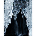ice waterfall winter cold outside nature sweden