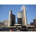 At 2:40pm.Toronto City Hall-at Nathan Phillip Square-Toronto,Ont.,On Saturday,Nov.17,2012