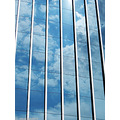 sky curtain wall glass reflect