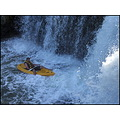 canoe kayak waterfall water river