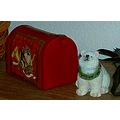 Christmas ornament decorations bear mailbox