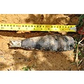 Unexploded mortar shell