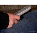 remote tv hand closeup