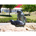 bird peguins statue rockingham wa littleollie