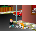 streetfight animation mattijn flash skeleton car