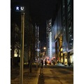 At 6:42pm.Outside on the Street-of Ryerson Image Centre-Ryerson University-On Gould St.,Toronto,O...