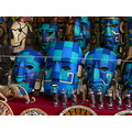 Chichenitza masks blue masks handcrafted masks