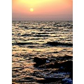 Zallaq Beach Sea Ocean Gulf Evening Sunset Light Night Water