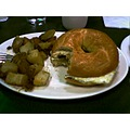 sausage egg cheese bagel sandwich