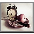 apple knife clock koryagin philosophy naturmort