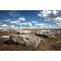 limestone rocks rosedale north yorkshire blue sky