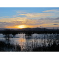Worcester in the floods 1st January 2013   The sun shone today - view towards Malvern across th...